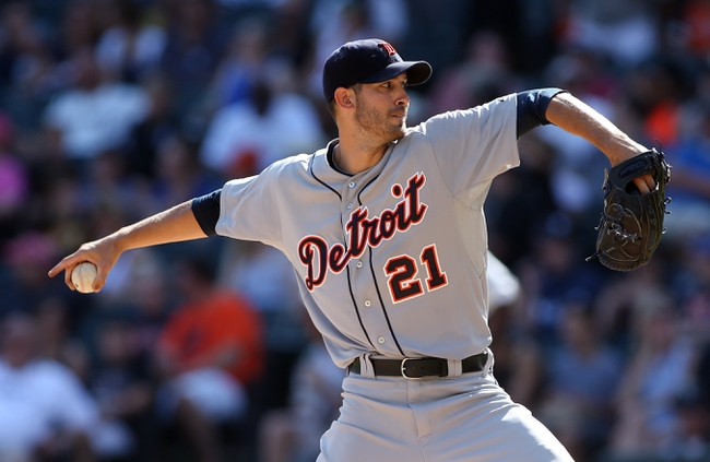 Aug 31, 2014; Chicago, IL, USA; Detroit Tigers starting pitcher Rick Porcello throws a pitch against the Chicago White Sox during the seventh inning at U.S Cellular Field. Mandatory Credit: Jerry Lai-USA TODAY Sports