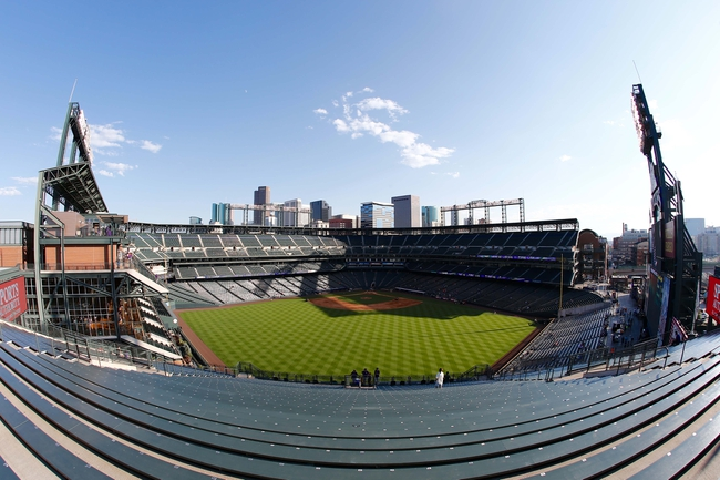 Sep 2, 2014; Denver, CO, USA; A general view of Coors Field prior to the game between the San Francisco Giants and the Colorado Rockies. Mandatory Credit: Isaiah J. Downing-USA TODAY Sports
