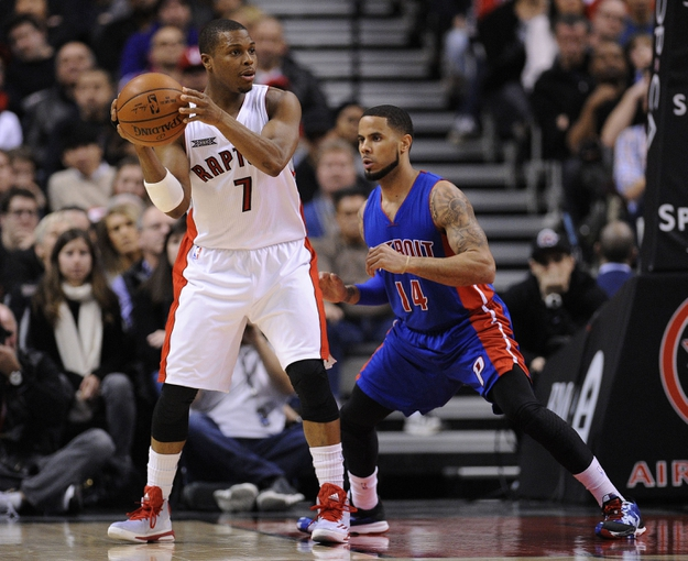 Jan 25, 2015; Toronto, Ontario, CAN; Toronto Raptors guard ...