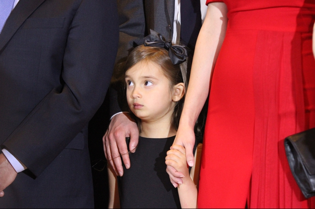 Apr 19, 2016; New York, NY, USA; Republican presidential hopeful Donald Trump (not pictured) speaks as his granddaughter Arabella Kushner listens after the New York primary at Trump Tower. Mandatory Credit: Carucha L. Meuse/The Journal News via USA TODAY NETWORK