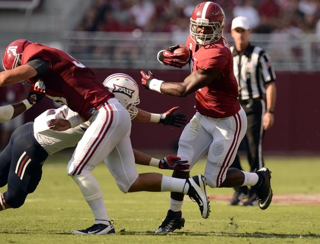 Alabama Crimson Tide vs. Florida Atlantic Owls 9/6/14 College Football Pick, Odds, Prediction