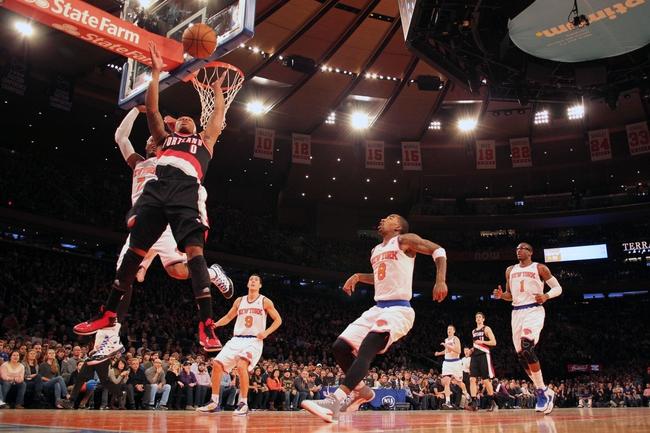 Portland Trail Blazers vs. New York Knicks - 12/28/14 NBA Pick, Odds, and Prediction
