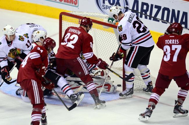 Chicago Blackhawks vs. Arizona Coyotes - 1/20/15 NHL Pick, Odds, and Prediction