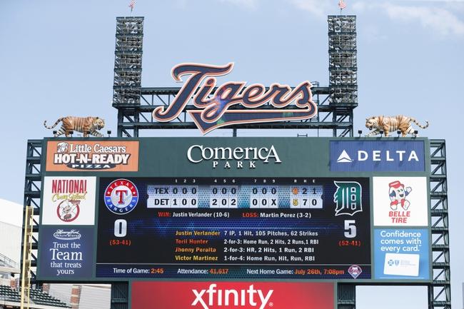 Detroit Tigers vs. Texas Rangers MLB Pick, Odds, Prediction 5/22/14