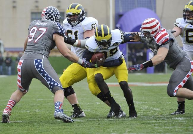 Northwestern vs. Michigan - 11/8/14 College Football Pick, Odds, and Prediction