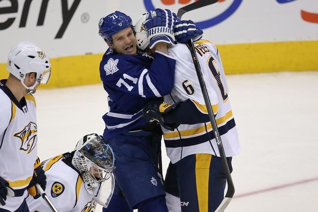 Maple Leafs vs. Predators - 11/18/14 NHL Pick, Odds, and Prediction