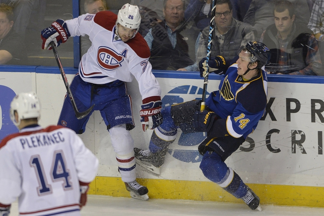 Canadiens vs. Blues - 11/20/14 NHL Pick, Odds, and Prediction
