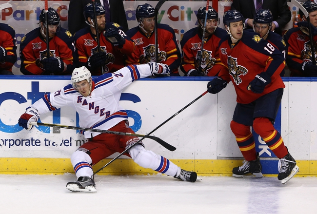 Florida Panthers vs. New York Rangers - 12/31/14 NHL Pick, Odds, and Prediction
