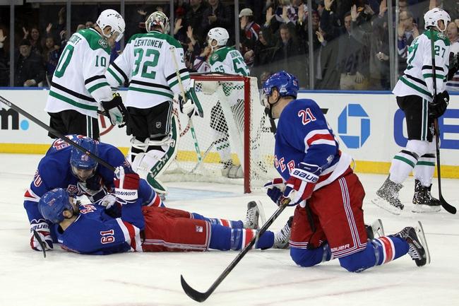 Dallas Stars vs. New York Rangers - 12/29/14 NHL Pick, Odds, and Prediction
