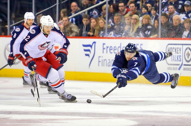Columbus Blue Jackets vs. Winnipeg Jets - 11/25/14 NHL Pick, Odds, and Prediction