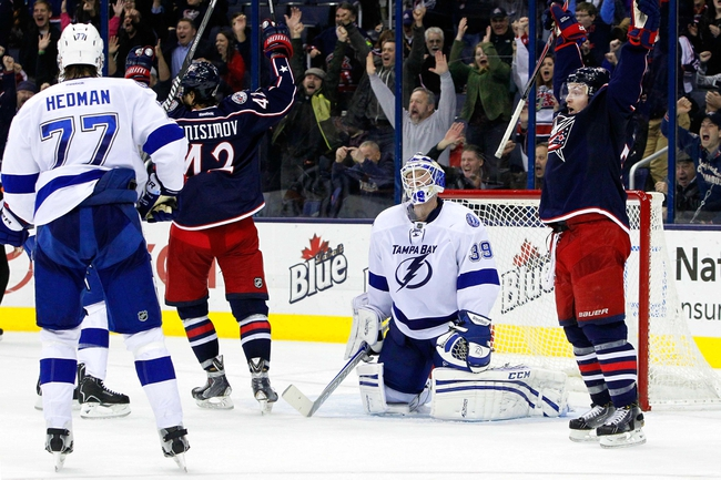 Tampa Bay Lightning vs. Columbus Blue Jackets - 12/6/14 NHL Pick, Odds, and Prediction
