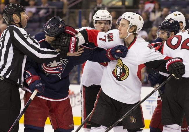Ottawa Senators vs. Columbus Blue Jackets - 10/18/14