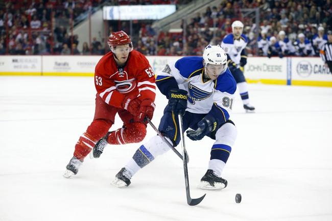 St. Louis Blues vs. Carolina Hurricanes - 1/10/15 NHL Pick, Odds, and Prediction
