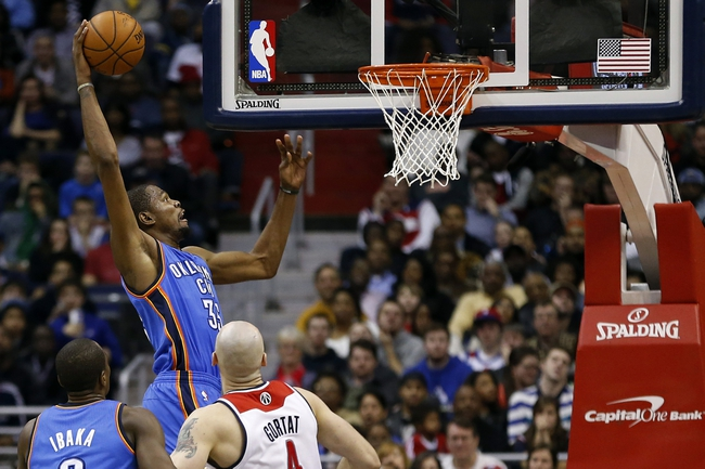 Oklahoma City Thunder vs. Washington Wizards - 1/2/15 NBA Pick, Odds, and Prediction