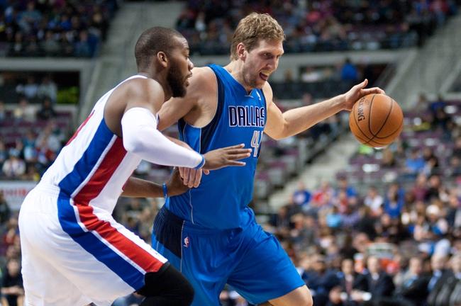 Detroit Pistons vs. Dallas Mavericks - 12/17/14 NBA Pick, Odds, and Prediction