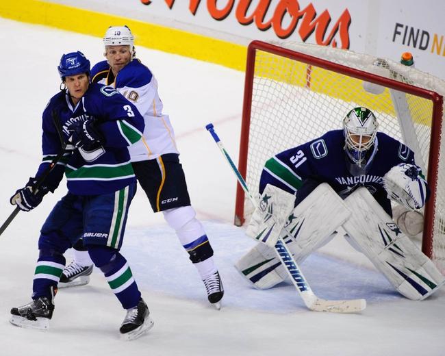 Blues vs. Canucks - 10/23/14 NHL Pick, Odds, Prediction