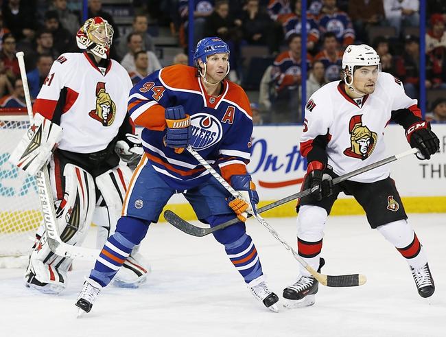 Edmonton Oilers vs. Ottawa Senators - 11/13/14 NHL Pick, Odds, and Prediction