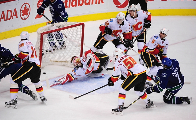 Vancouver Canucks vs. Calgary Flames - 4/13/14