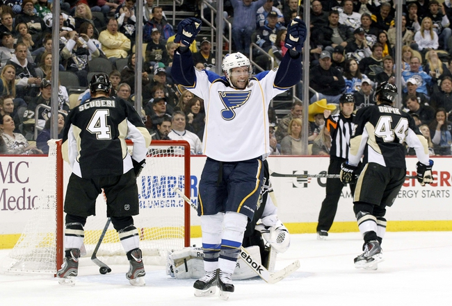 St. Louis Blues vs. Pittsburgh Penguins - 2/21/15 NHL Pick, Odds, and Prediction