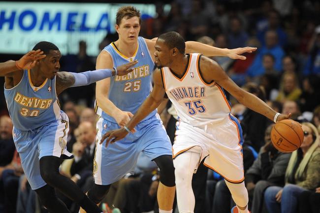 Oklahoma City Thunder vs. Denver Nuggets - 10/8/14 NBA Preseason Pick, Odds, Prediction