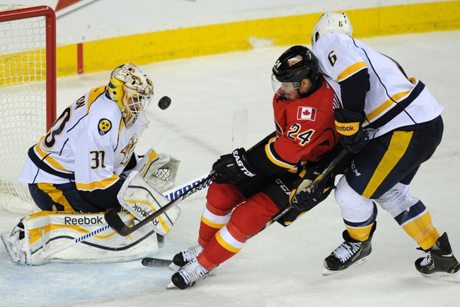 Nashville Predators vs. Calgary Flames - 10/14/14
