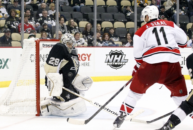 Pittsburgh Penguins vs. Carolina Hurricanes - 11/28/14 NHL Pick, Odds, and Prediction
