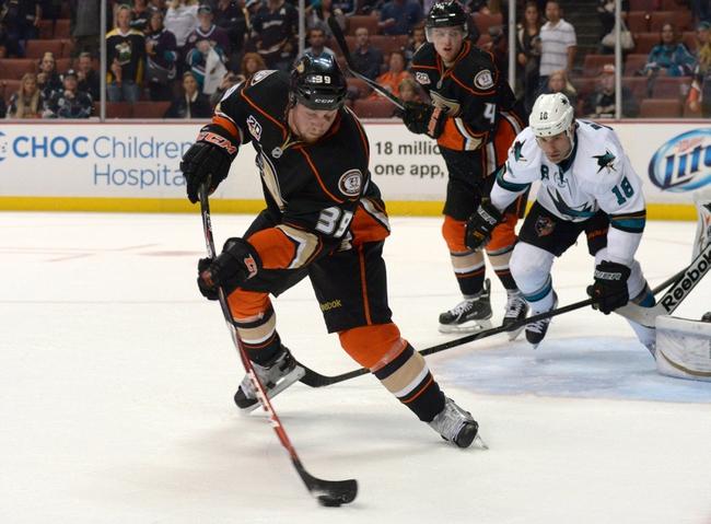 Ducks vs. Sharks - 10/26/14 NHL Pick, Odds, Prediction