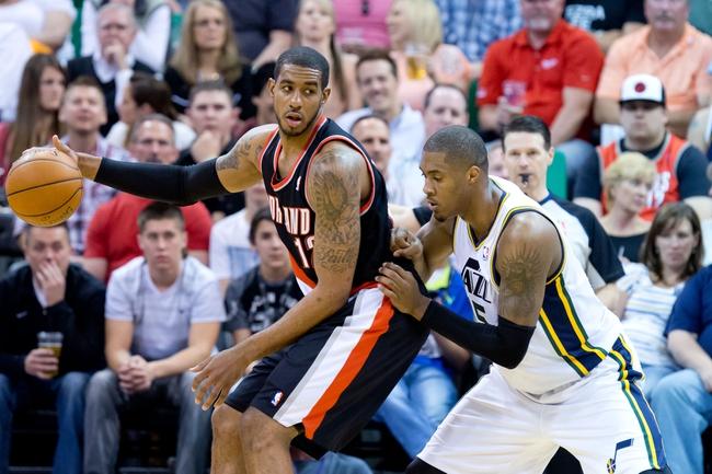 Utah Jazz vs. Portland Trail Blazers 10/7/14