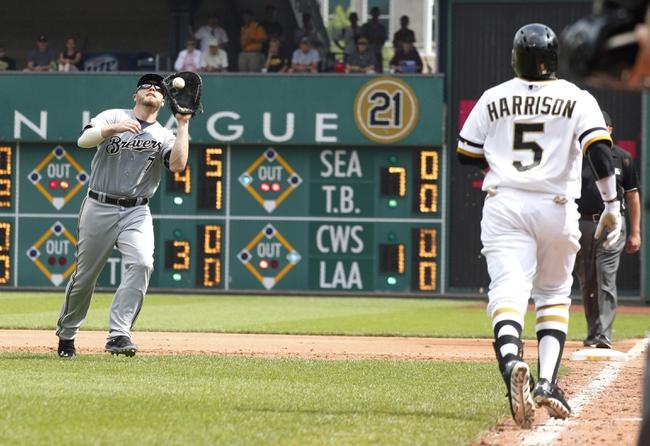 Milwaukee Brewers vs. Pittsburgh Pirates 8/22/14 Free MLB Pick