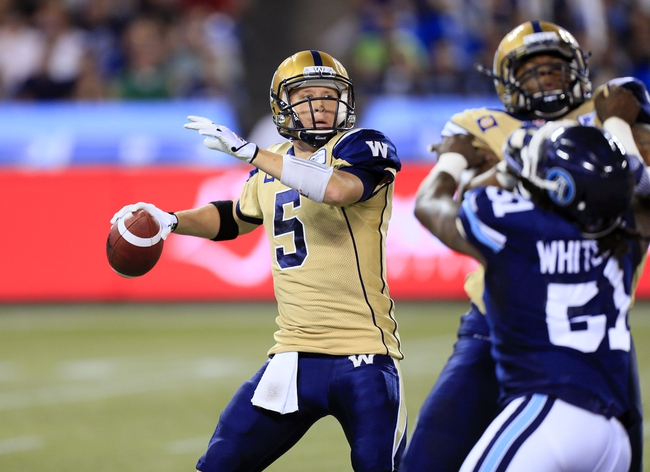 Calgary Stampeders vs. Winnipeg Blue Bombers CFL Pick, Odds, Prediction - 7/21/16