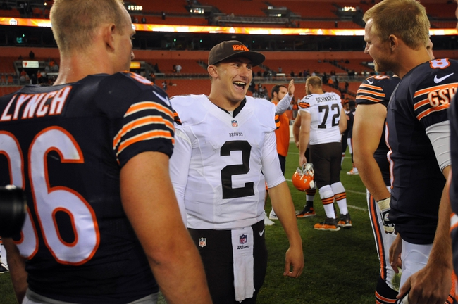 Bears vs. Browns - 9/3/15 NFL Pick, Odds, and Prediction
