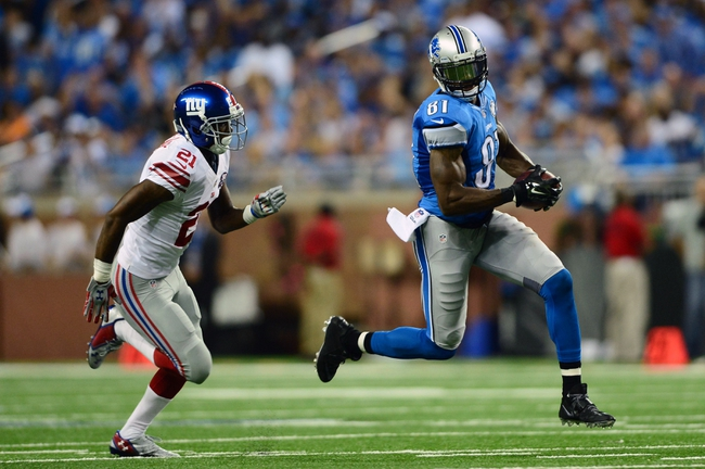 New York Giants at Detroit Lions 9/8/14 NFL Score, Recap, News and Notes