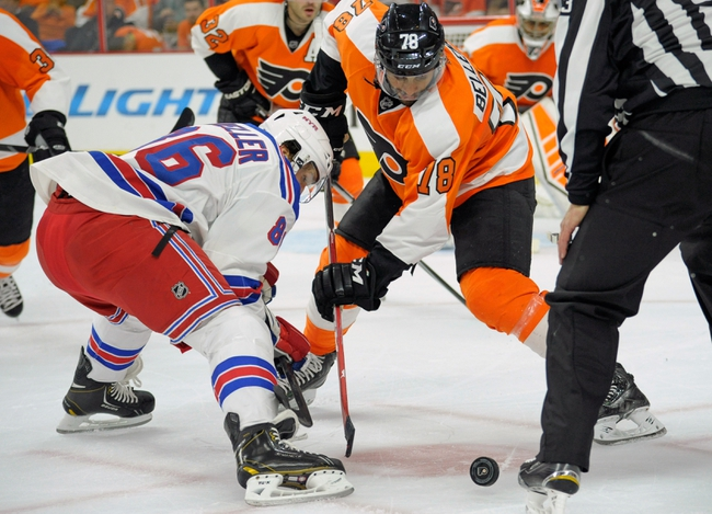 New York Rangers vs. Philadelphia Flyers - 11/19/14 NHL Pick, Odds, and Prediction