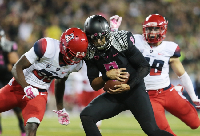 Arizona vs. Oregon - 12/5/14 College Football Pick, Odds, and Prediction