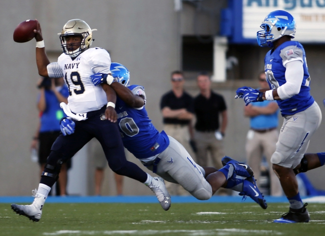 Navy Midshipmen vs. Air Force Falcons - 10/3/15 College Football Pick, Odds, and Prediction