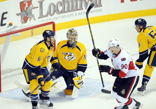 Senators vs. Predators - 11/20/14 NHL Pick, Odds, and Prediction