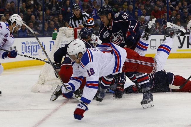 Columbus Blue Jackets vs. New York Rangers - 1/16/15 NHL Pick, Odds, and Prediction