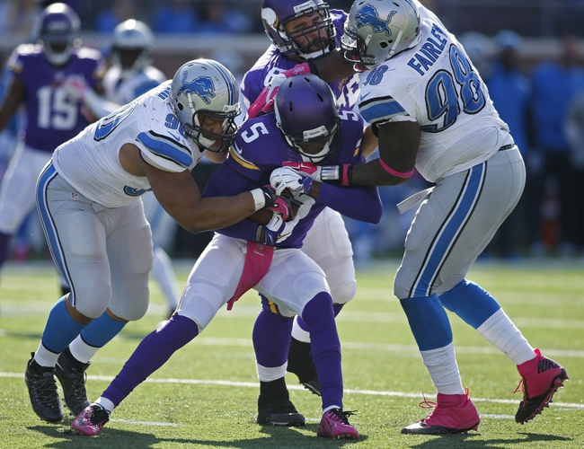 Lions vs. Vikings - 12/14/14 NFL Pick, Odds, and Prediction