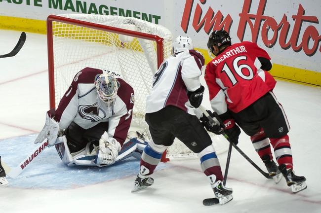 Avalanche vs. Senators - 1/8/15 NHL Pick, Odds, and Prediction