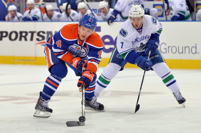 Edmonton Oilers vs. Vancouver Canucks - 11/1/14 NHL Pick, Odds, and Prediction