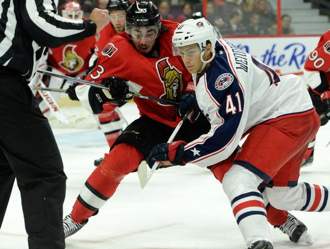 Columbus Blue Jackets vs. Ottawa Senators - 10/28/14 NHL Pick, Odds, and Prediction