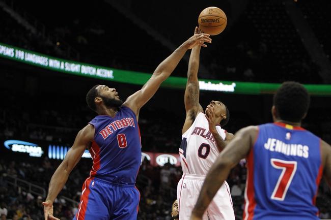 Hawks vs. Pistons - 11/21/14 NBA Pick, Odds, and Prediction