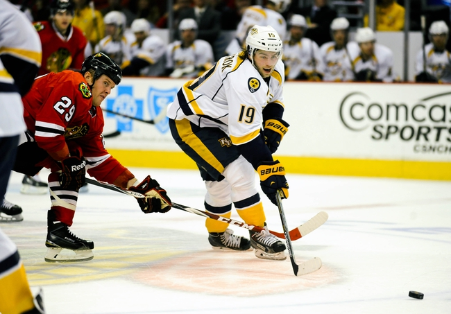 Predators vs. Blackhawks - 10/23/14 NHL Pick, Odds, Prediction