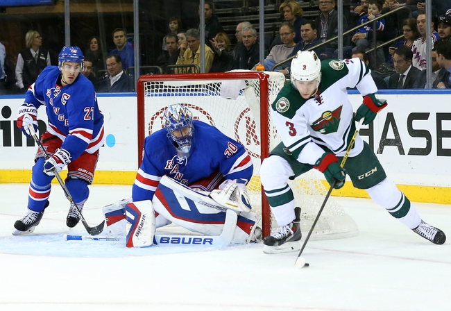 Minnesota Wild vs. New York Rangers - 4/2/15 NHL Pick, Odds, and Prediction
