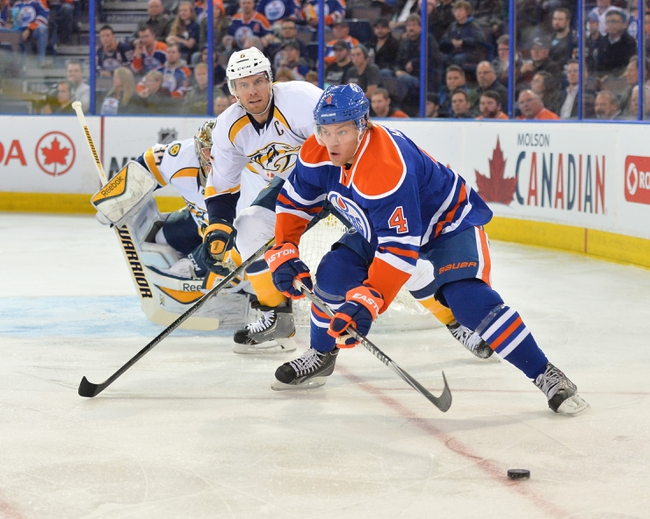 Nashville Predators vs. Edmonton Oilers - 11/11/14 NHL Pick, Odds, and Prediction