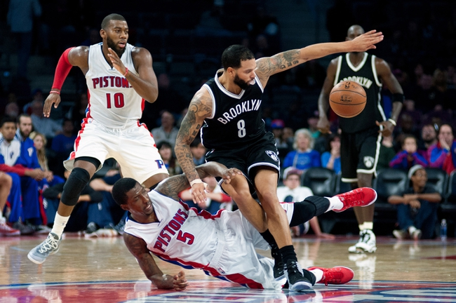 Brooklyn Nets vs. Detroit Pistons - 12/21/14 NBA Pick, Odds, and Prediction