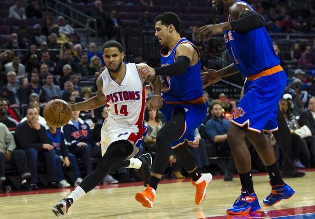 Knicks vs. Pistons - 1/2/15 NBA Pick, Odds, and Prediction