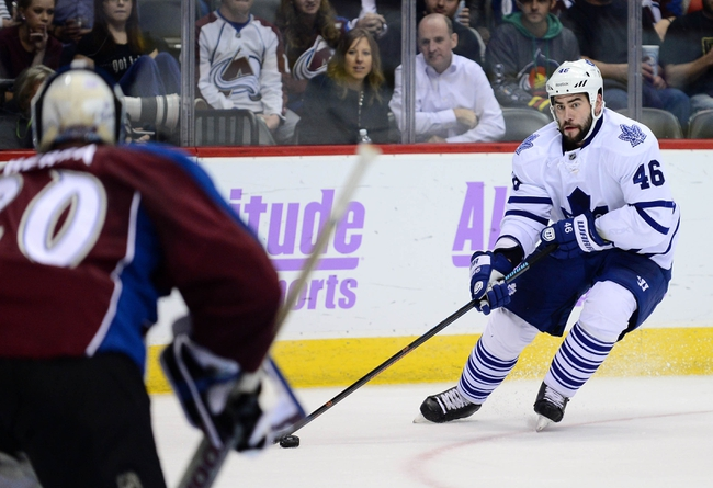 Toronto Maple Leafs vs. Colorado Avalanche - 11/17/15 NHL Pick, Odds, and Prediction