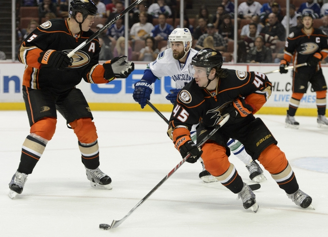 Vancouver Canucks vs. Anaheim Ducks - 11/20/14 NHL Pick, Odds, and Prediction