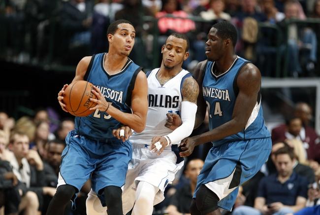 Timberwolves vs. Mavericks - 1/21/15 NBA Pick, Odds, and Prediction